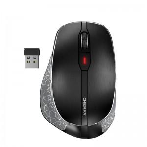 Miška Cherry MW 8 ERGO Advanced Wireless, Bluetooth, črna, USB (JW-8500)