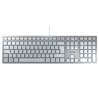 Tipkovnica Cherry KC 6000 Slim, srebrna, USB, UK SLO g. (JK-1600GB-1)