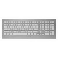 Tipkovnica Cherry Strait 3.0, belo srebrna, USB, UK SLO g. (JK-0350GB)