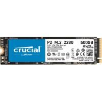 SSD 500GB M.2 80mm PCI-e 3.0 x4 NVMe, 3D QLC, CRUCIAL P2 (CT500P2SSD8)