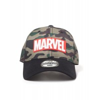 DIFUZED MARVEL - CAMOUFLAGE LOGO ADJUSTABLE CAP