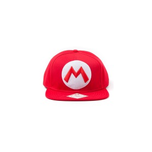 DIFUZED NINTENDO - RED SNAPBACK CAP WITH MARIO LOGO