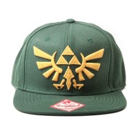 DIFUZED ZELDA - TWILIGHT PRINCESS, SNAPBACK WITH GOLDEN TRIFORCE LOGO