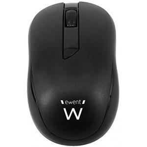 Miška Ewent Wireless Mini Optical, 1000dpi, črna, USB (EW3223)