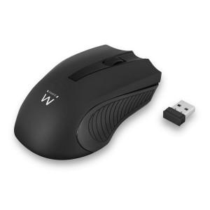 Miška Ewent Wireless Optical, 1000dpi, črna, USB (EW3224)