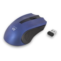 Miška Ewent Wireless Optical, 1000dpi, modra, USB (EW3225)