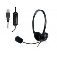 Slušalke Ewent, nadzor glasnosti, mikrofon, USB, EW3568 (EW3568)