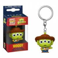 FUNKO POP KEYCHAIN: PIXAR ALIEN REMIX - WOODY