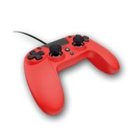 GIOTECK VX4 žični kontroler za PS4 in PC– rdeče barve