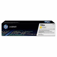 HP 126A Yellow LaserJet Toner Cartridge (CE312A)