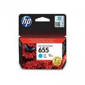 HP 655 Cyan Ink Cartridge (CZ110AE)