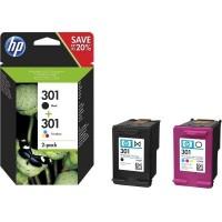 HP 301 2-pack Black/Tri-color komplet črna/ barvna (N9J72AE)