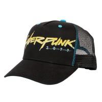 JINX Cyberpunk 2077 Cyberpunker Trucker Kapa s šiltom Black/Blue