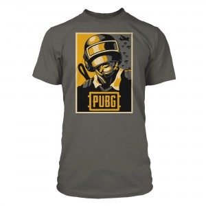 JINX T-SHIRT PUBG HOPE POSTER PREMIUM TEE-LARGE-CHARCOAL