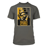 JINX T-SHIRT PUBG HOPE POSTER PREMIUM TEE-MEDIUM-CHARCOAL