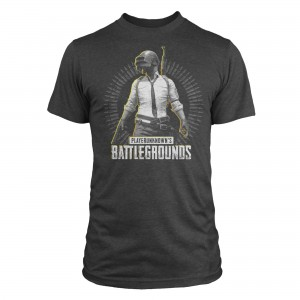 JINX T-SHIRT PUBG LEVEL 3 PREMIUM TEE-X-LARGE-CHARCOAL HEATHER