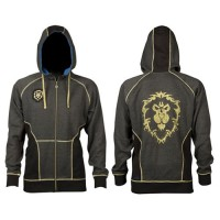 JINX WORLD OF WARCRAFT ALLIANCE CLASSIC PREMIUM ZIP-UP HOODIE, S