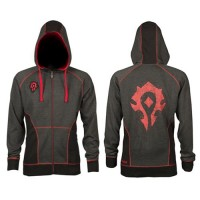 JINX WORLD OF WARCRAFT HORDE CLASSIC PREMIUM ZIP-UP HOODIE, M