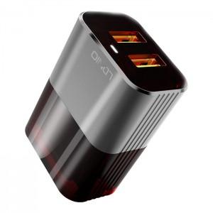 Komplet adapter LDNIO A2206 220v 2x USB, max 2,4A + lightning kabel