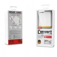 Komplet adapter LDNIO A2502Q 220v 2x USB 1x QC 3.0 1x 2,4A + USB C kabel