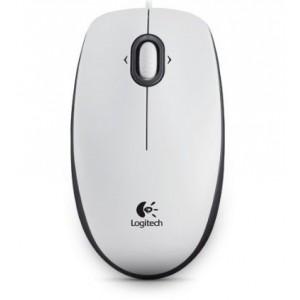 MIška Logitech OEM B100 Optična, bela, USB (910-003360)