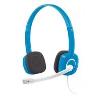 Slušalke Logitech H150, modre, stereo (981-000368)