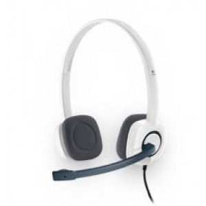 Slušalke Logitech H150, bele, stereo (981-000350)