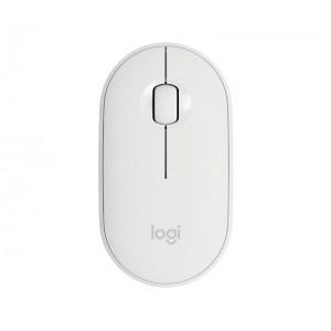 Miška Logitech Pebble M350 Wireless, bela (910-005716)