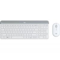 Tipkovnica in miška Logitech Slim Wireless Combo MK470, bela, SLO (920-009205)