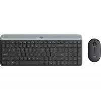 Tipkovnica in miška Logitech Slim Wireless Combo MK470, grafitna barva, SLO (920-009264)