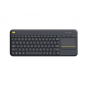 Tipkovnica K400 PLUS Wireless Touch, Logitech, Unifying, črna, SLO (920-008385)