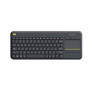 Tipkovnica K400 PLUS Wireless Touch, Logitech, Unifying, črna, SLO (920-008385)
