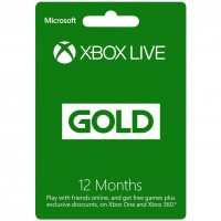 MICROSOFT XBOX LIVE GOLD CARD 12 MONTH WORLDWIDE