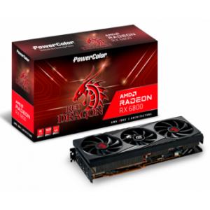 PowerColor Radeon RX 6800 Red Dragon, 16GB GDDR6 (AXRX 6800 16GBD6-3DHR/OC)