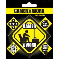 GAMER AT WORK VINYL NALEPKE PYRAMID