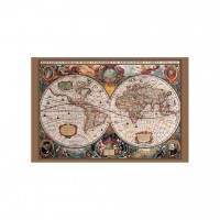 Pyramid 17TH CENTURY WORLD MAP MAXI plakat