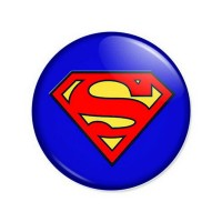 Pyramid SUPERMAN - LOGO priponka