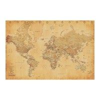 Pyramid WORLD MAP - (VINTAGE STYLE) MAXI plakat