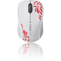 Rapoo 3100P, 5GHz brezžična optična miška, bela (RAP-3100P-WHITE)