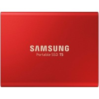 Zunanji SSD 1TB USB 3.1 Gen2 V-NAND TLC UASP, Samsung T5, rdeč (MU-PA1T0R/EU)