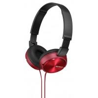 SONY naglavne slušalke, MDRZX310R rdeče (SO-MDRZX310R)