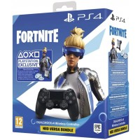 PS4 SONY DUALSHOCK V2 BLACK + FORTNITE