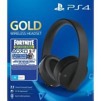 PS4 SONY WIRELESS STEREO HEADPHONES GOLD + FORTNITE