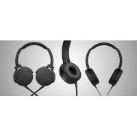 SONY slušalke + mikrofon MDR-XB550APB črne barve (SO-MDRXB550APB)