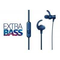 SONY Športne ušesne slušalke EXTRA BASS modre (SO-MDRXB510ASL)